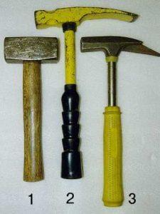Verschillende hamers
