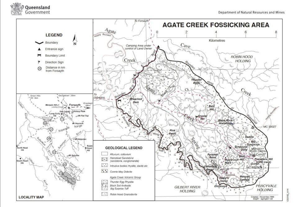 Agate Creek kaart